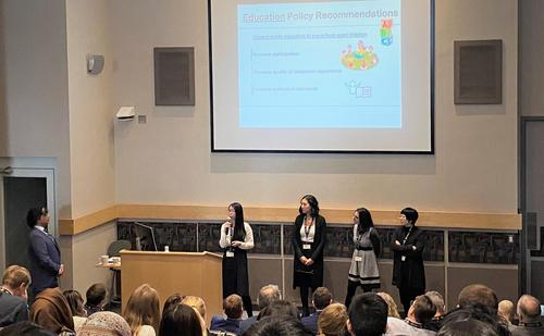 Students present their findings at Datafest