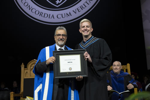 Waterloo President with Marc Hall