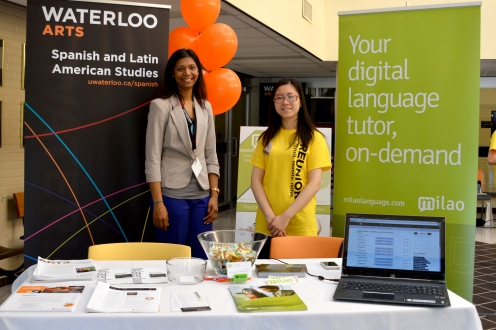 Spanish and Milao Language booth