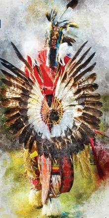 painting of pow wow dancer