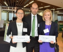 Waterloo Banking Project Senior Director Helena Cao, project leader Ryan Chen-Wing, and Emily Peat.