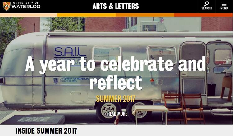 Arts and letters webpage cover capter