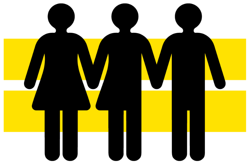 symbol of gender figures with equal sign