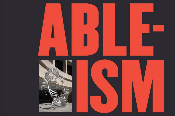 book cover detailing the word Ableism