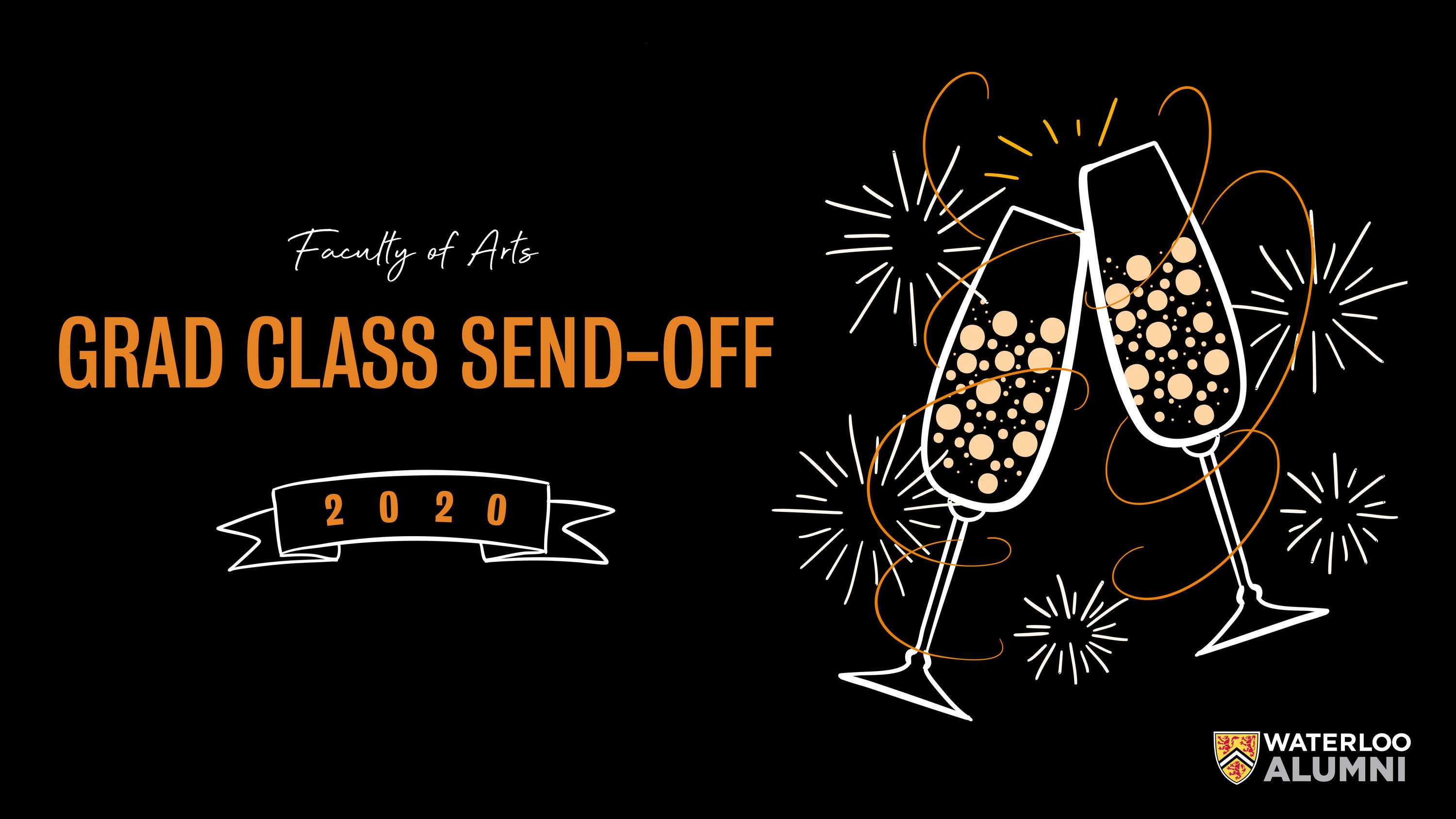 Arts Grad Send Off web banner graphic