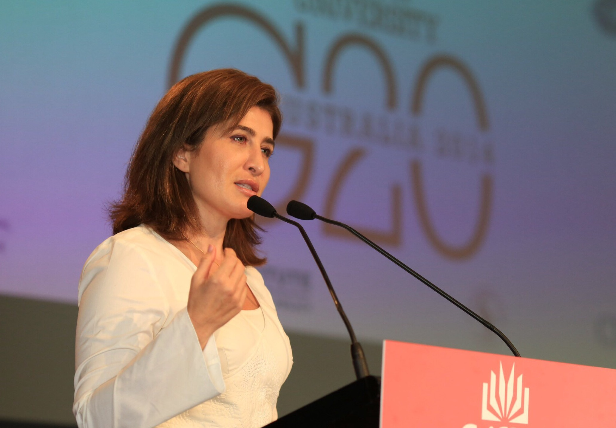 Bessma Momani speaks at G20 conference