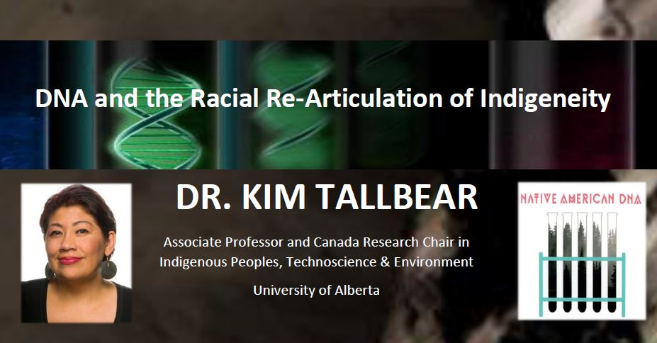 poster detail with photo of Dr. Kim Tallbear