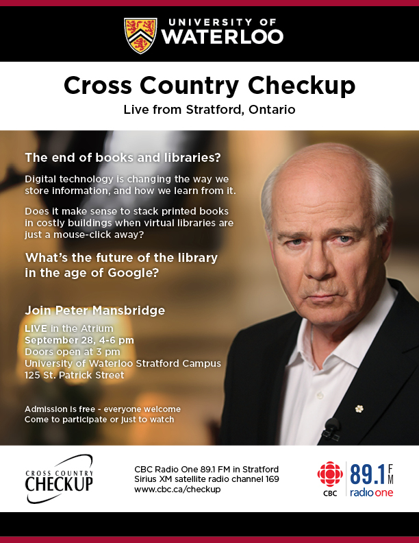 poster for braodcast showing Peter Mansbridge