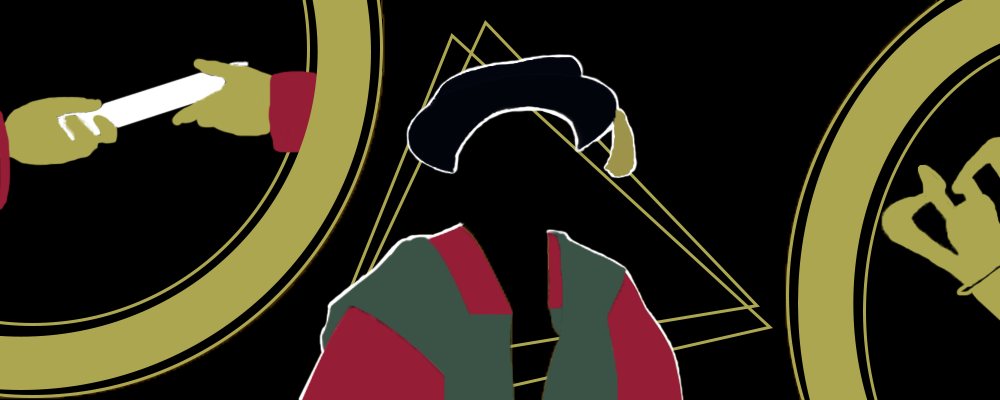 silhouette of graduate wearing cap and gown