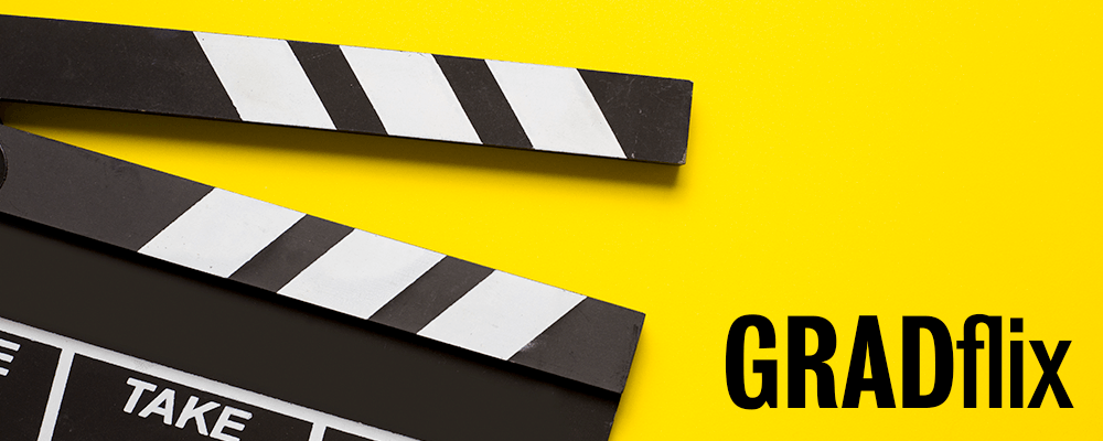 Glad flix logo image of clapboard