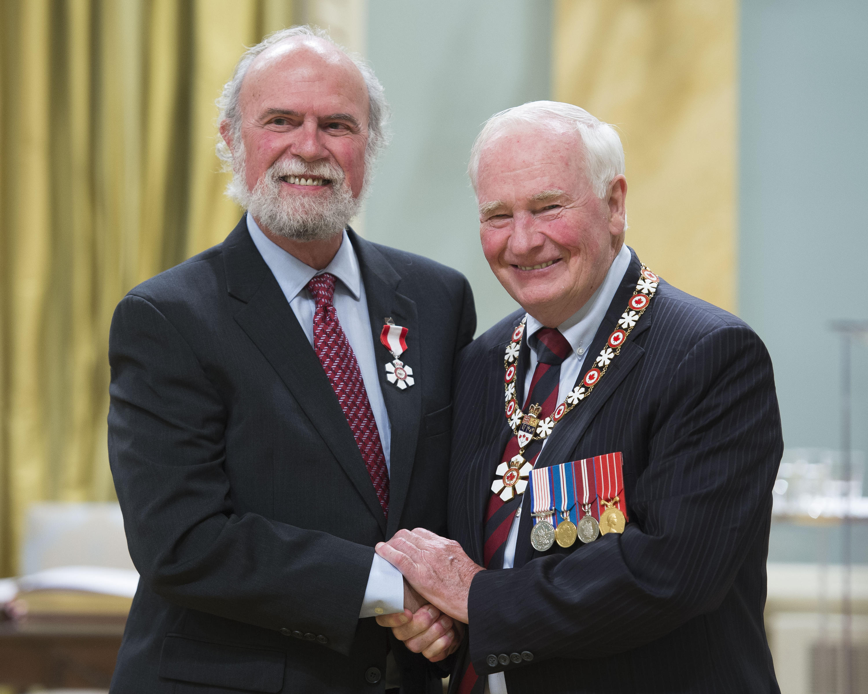Jim Walker and Governor General David Johnston