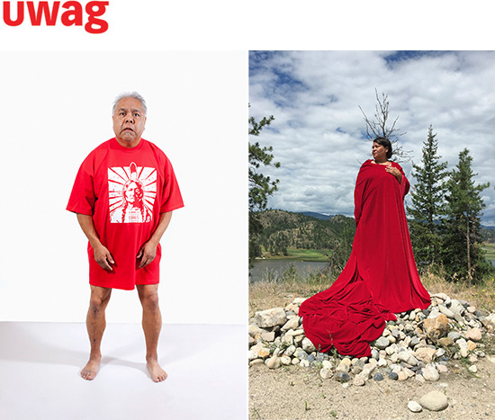 two images of Indigenous artists in performance