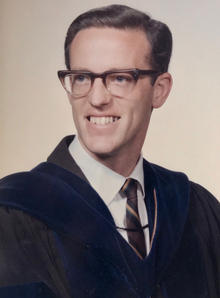 John North as young professor