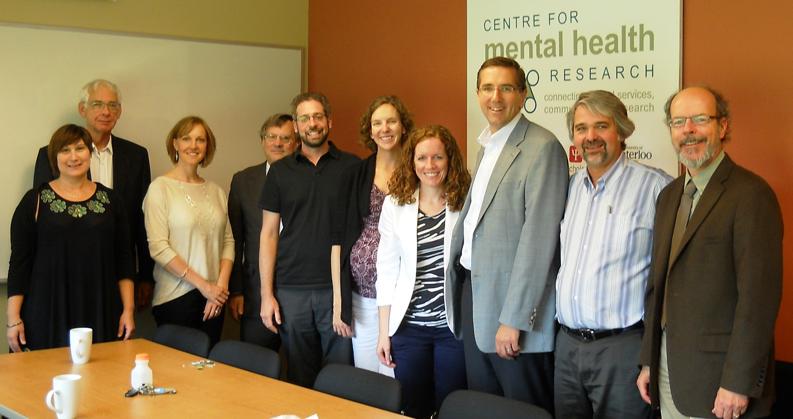 MPP John Milloy with Centre for Mental Health Research members