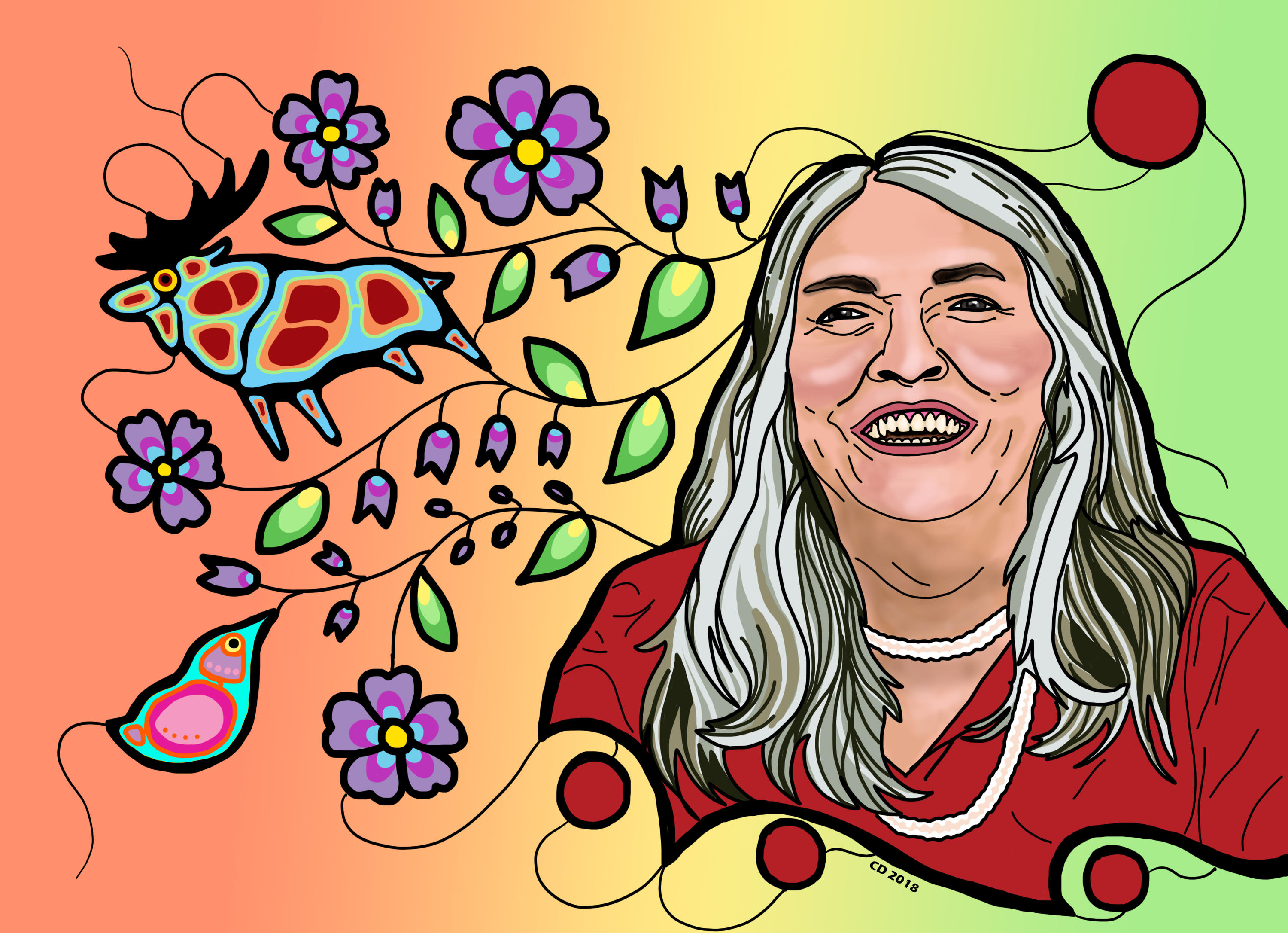 illustration of Lee Maracle