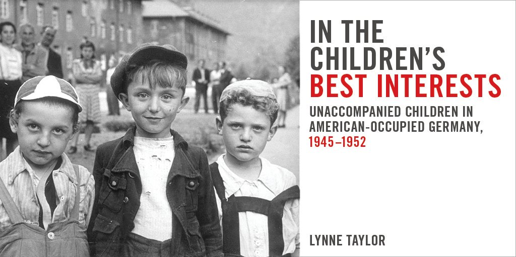 book cover with archival image of children just after World War Two