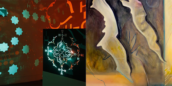 examples of artwork from the show
