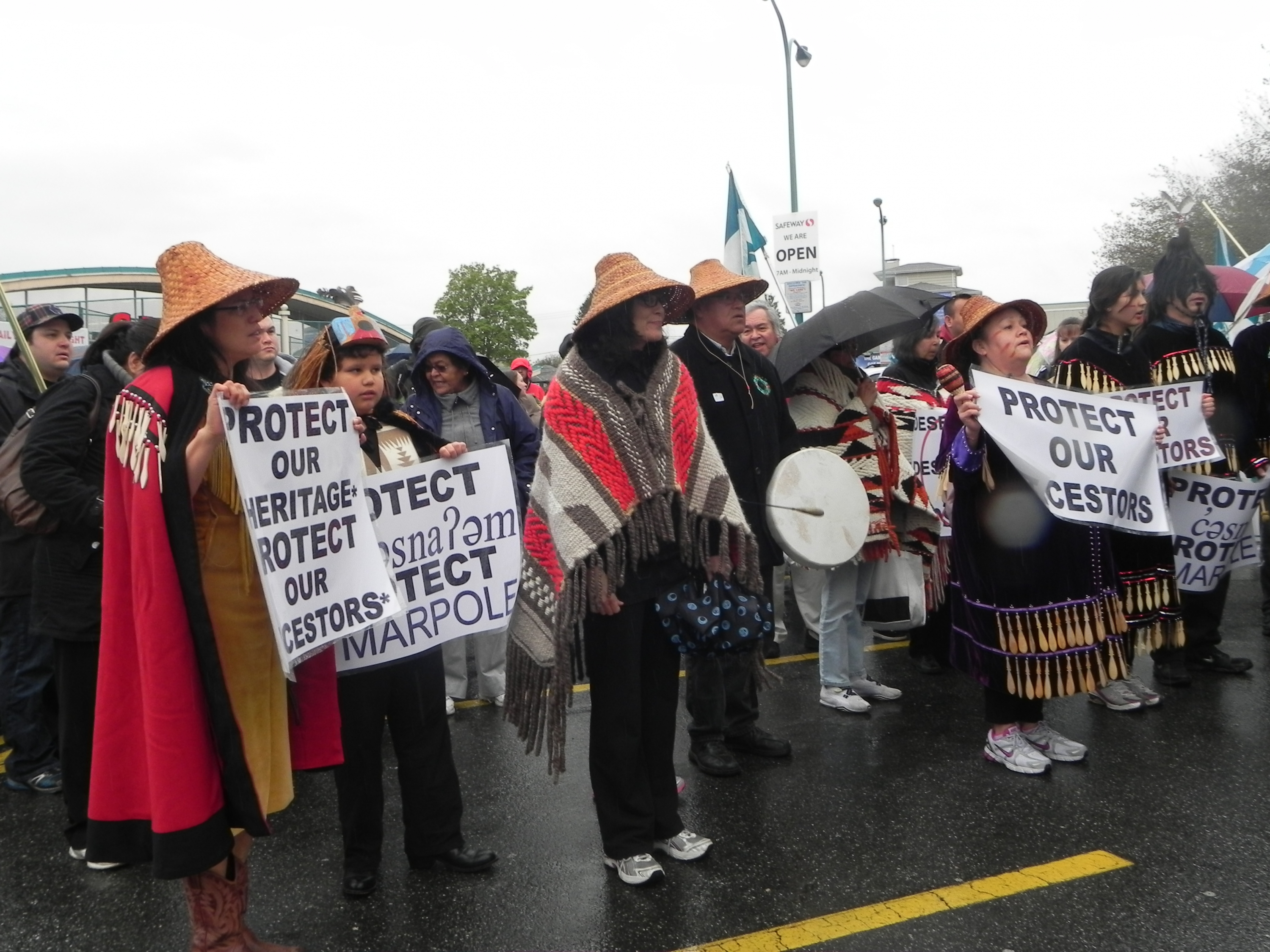 Protest at Marpole site