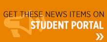 Get these news items on student portal