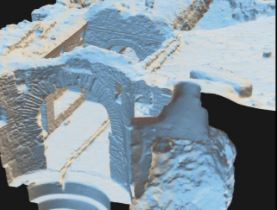 photogrammetry image of ancient Greek structure