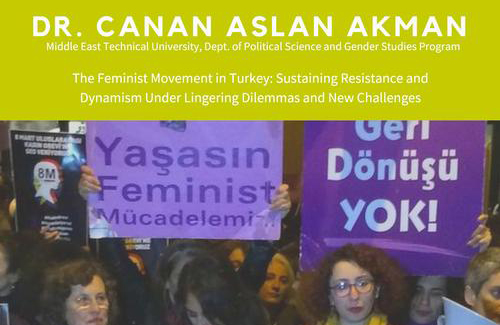 poster detail showing women holding feminist signs