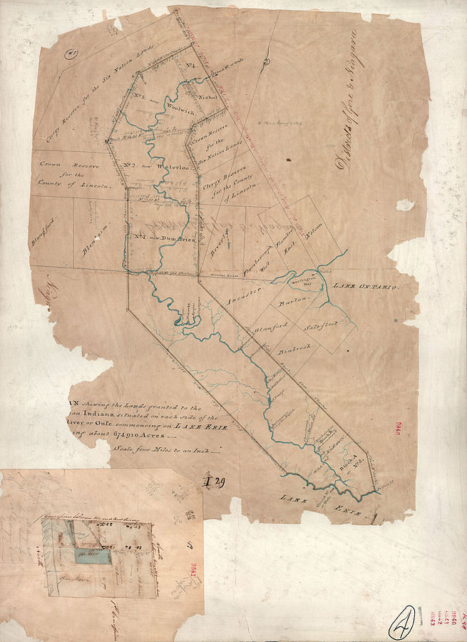 1821 map of the Haldimand Tract