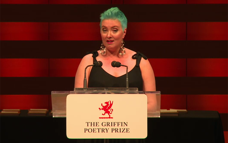 Sarah Tolmie reads at the Griffin Poetry Prize event