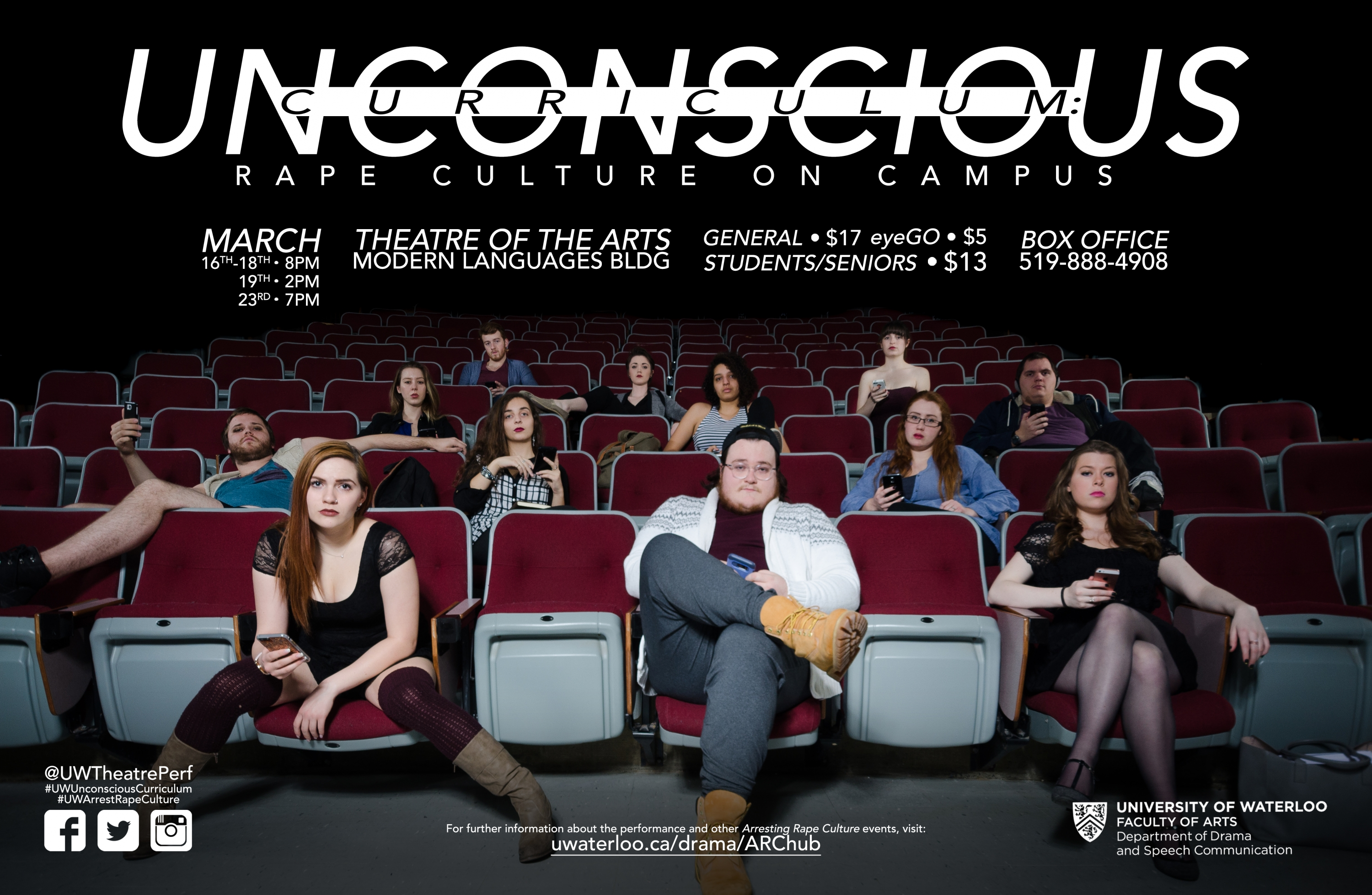 poster for event showing students sitting in lecture theatre