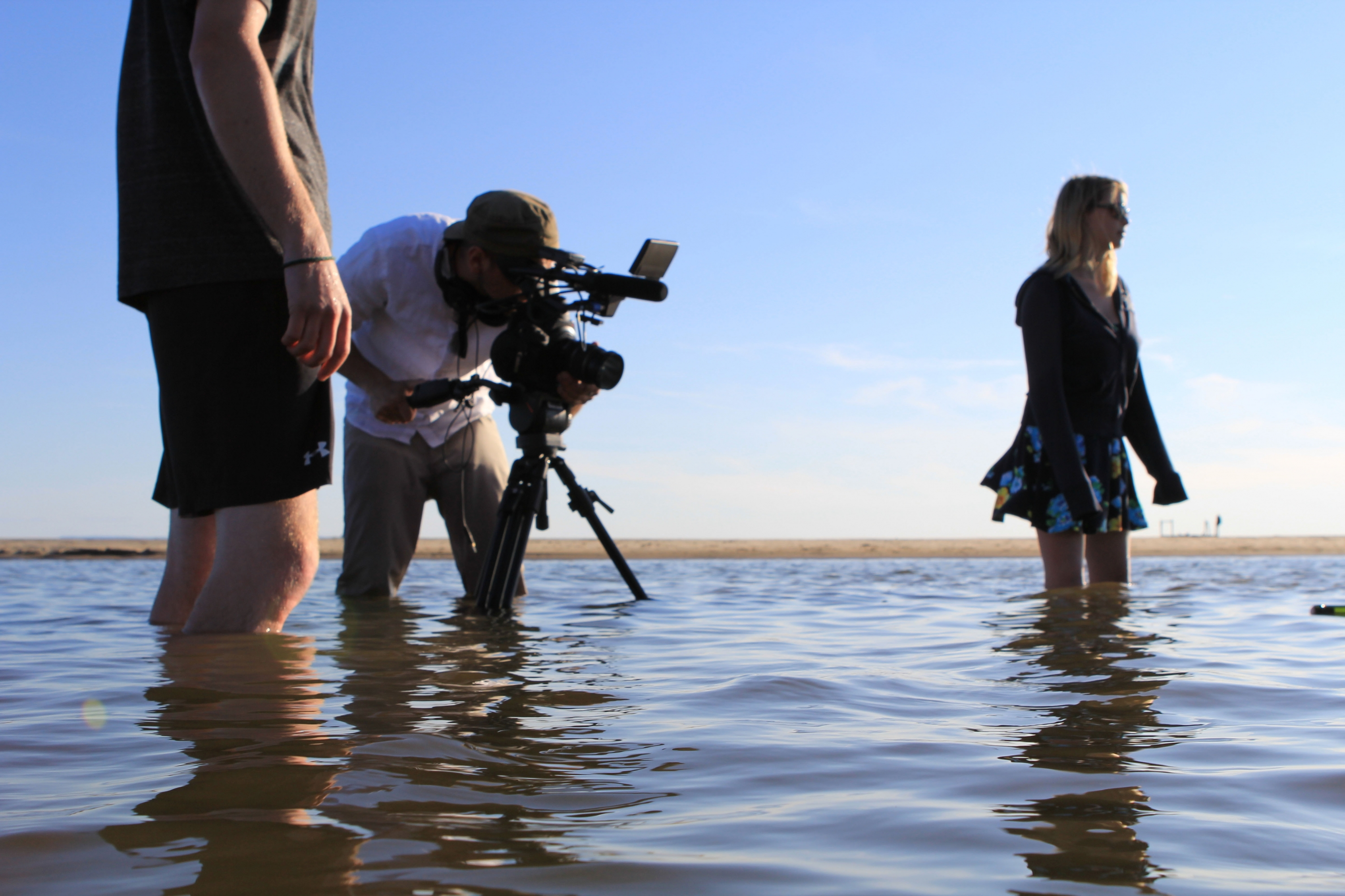Arc Media filming in the water
