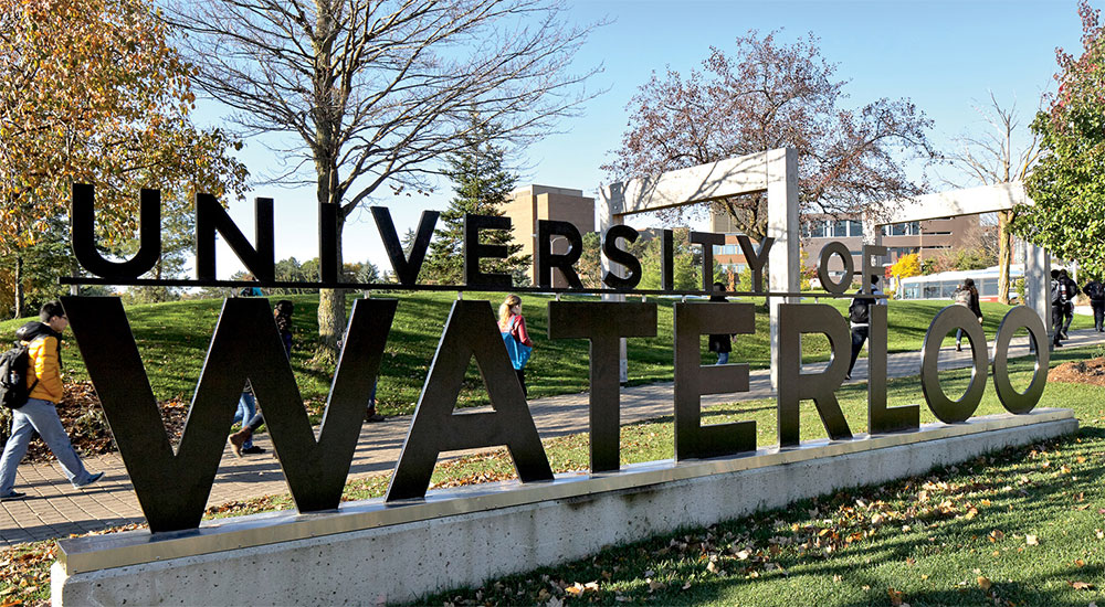 the University of Waterloo sign