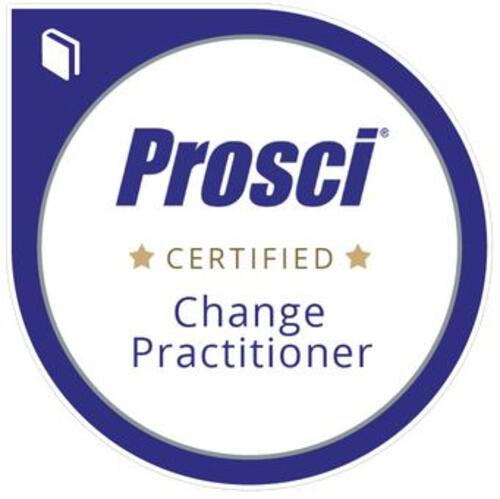 Prosci accreditation badge