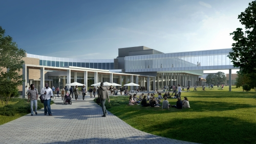 A rendering of the SLC/PAC expansion