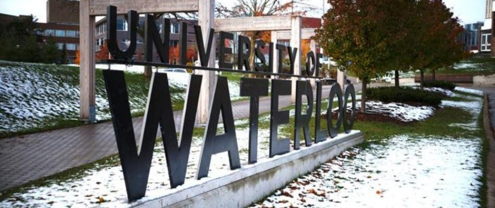University of Waterloo sign at the campus entrance
