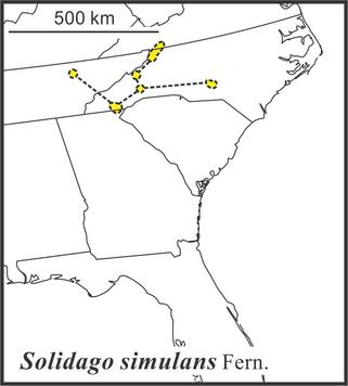 Solidago simulans range, Semple draft