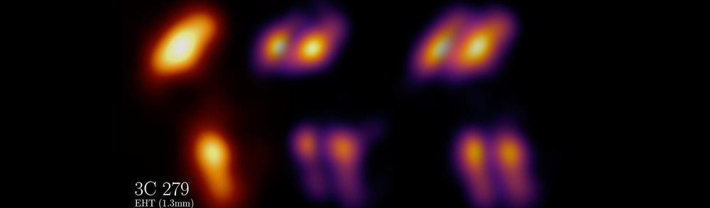 Simulation image of quasar and its movement