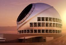 Artist's view of the Thirty Meter Telescope