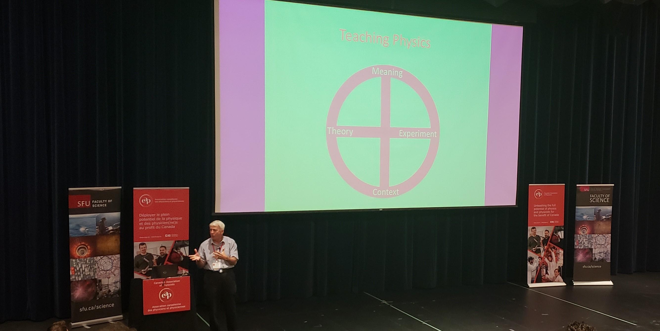 Robert Mann presenting paper