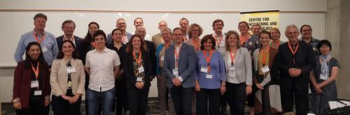 Group photo of visitors from the Netherlands and UW symposium speakers