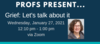 title, time, and photo of speaker for this event