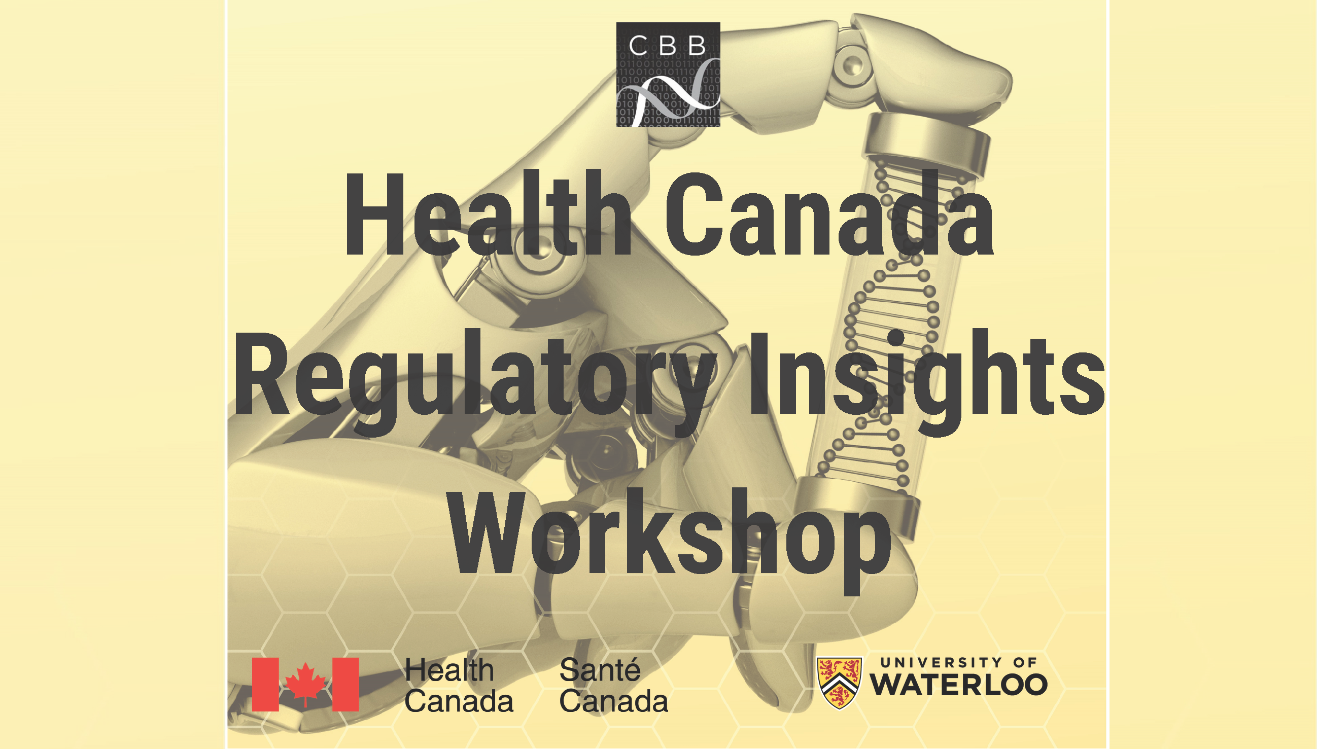 Health Canada Regulatory Insights Workshop event banner