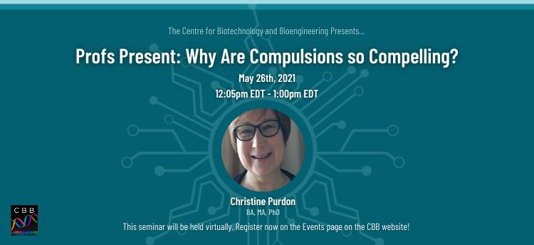 Profs Present: Christine Purdon Promotional Graphic