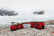 Homeward Bound cohort 2 in Antarctica