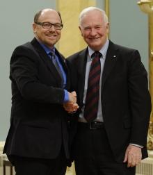 Prof. Brian Dixon with Governor General David Johnston