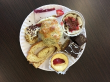 Biology bake-off desserts.