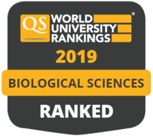 QS World University Rankings 2019 Biological Sciences ranked