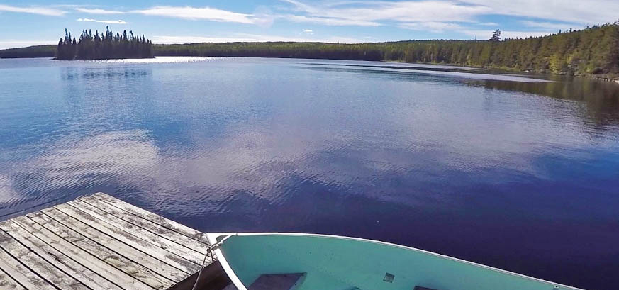 A Boreal lake being sample in the Experimental Lakes Area, Ontario.