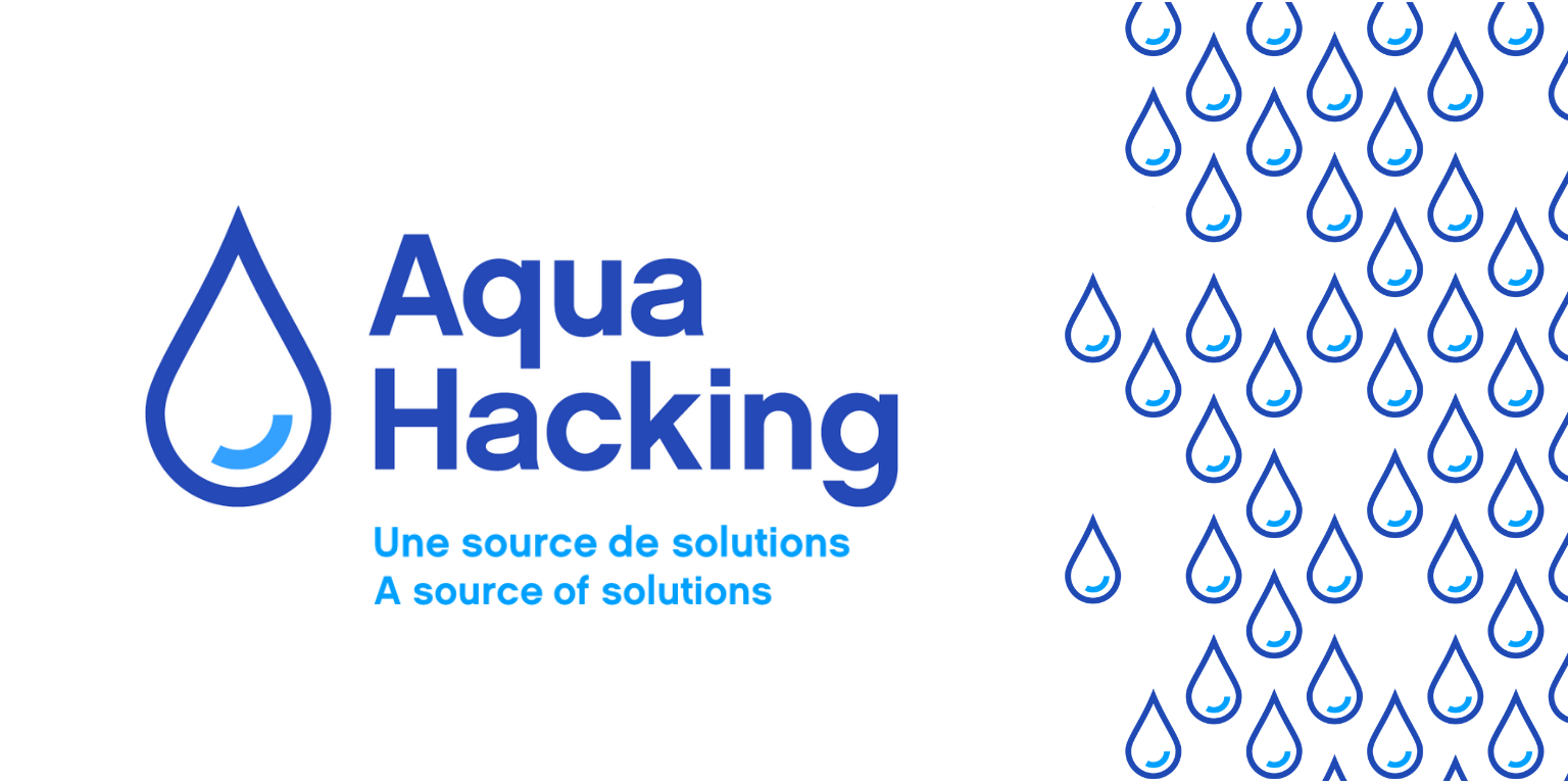 AquaHacking a source of solutions/une source de solutions with image of water droplets