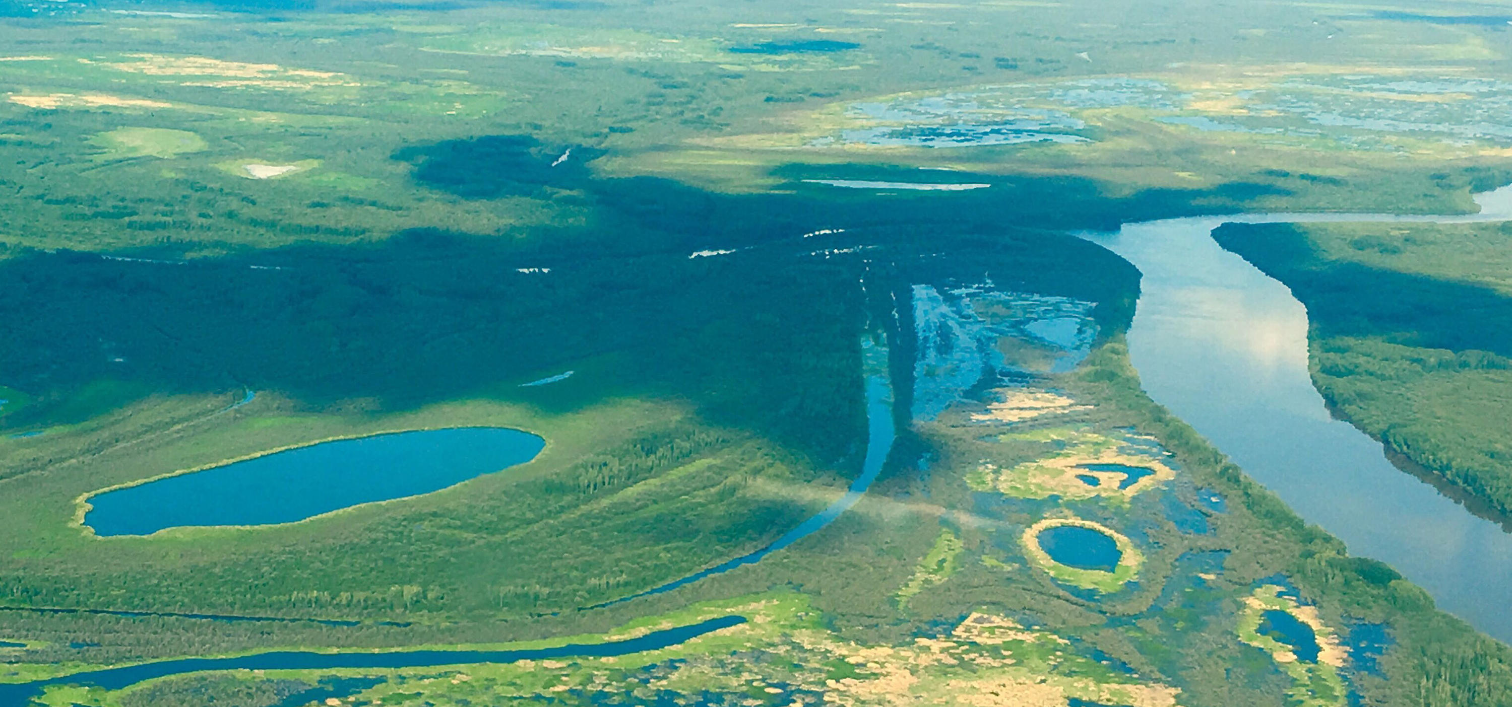 Athabasca Delta aerial view