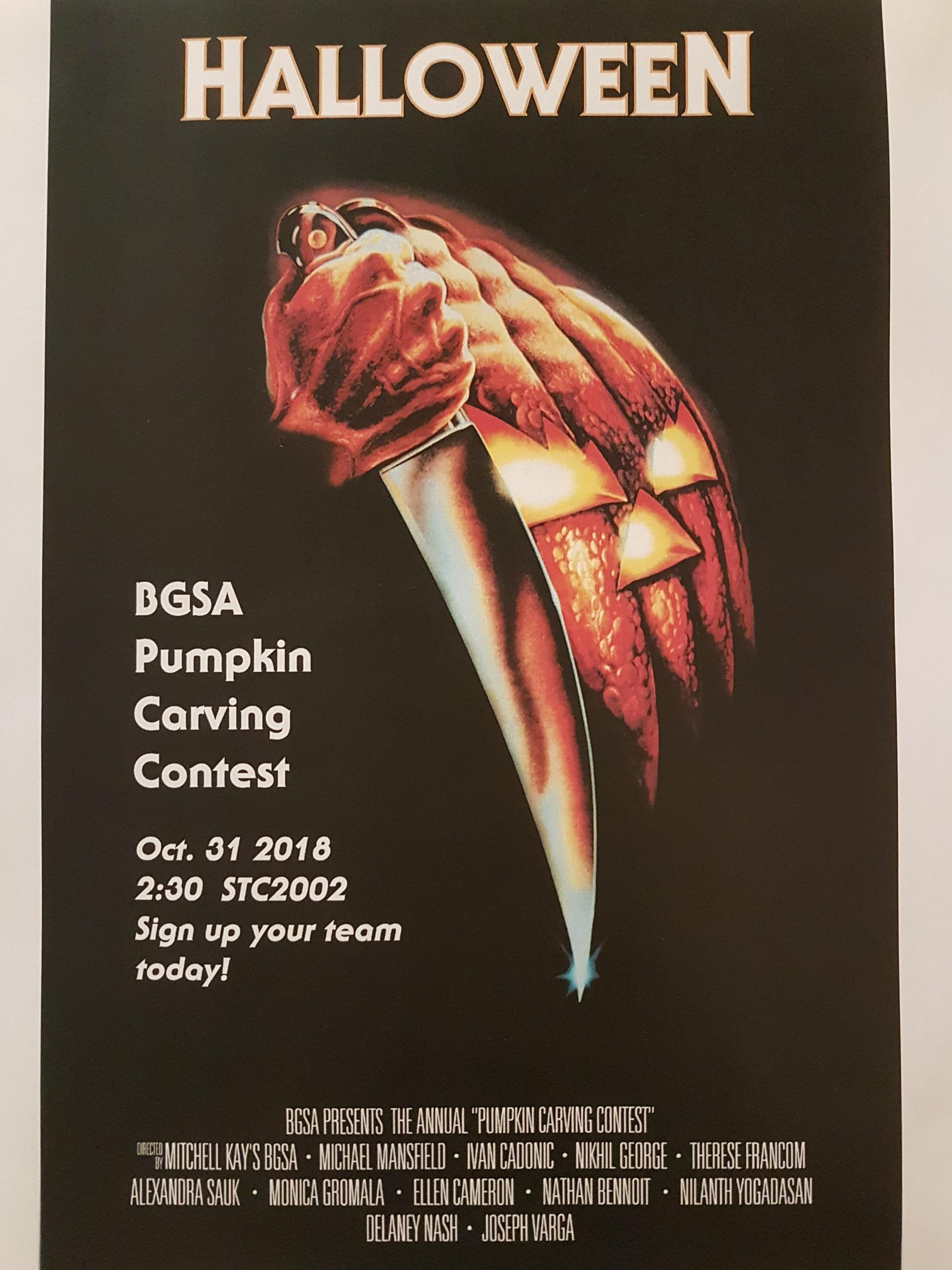 BGSA pumpkin carving poster