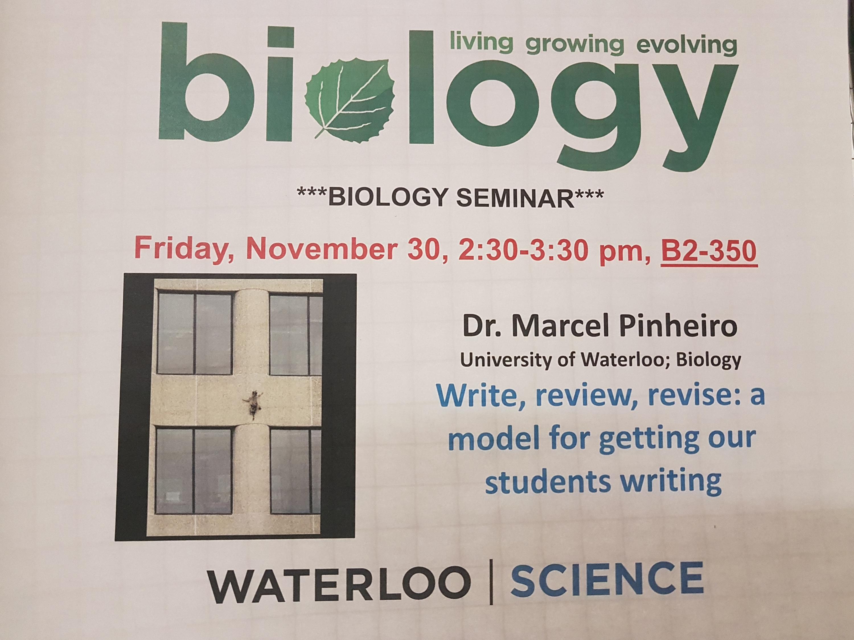 biology seminar event poster